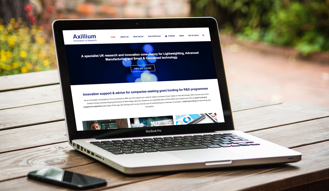 New website launched for Axillium Innovation by The Wonky Agency | Marketing | Website in Surrey, Bucks, UK
